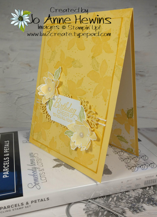 Parcels & Petals with stamp set and dies by Jo Anne Hewins