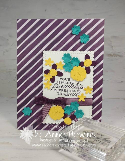 CCMC#658 Pierced Blooms Card by Jo Anne Hewins