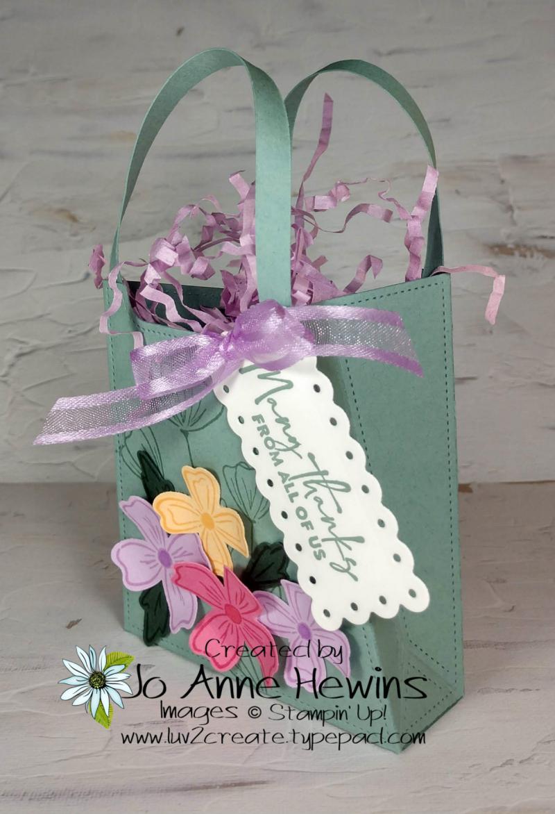 OSAT Flowers of Friendship Bag Side View by Jo Anne Hewins