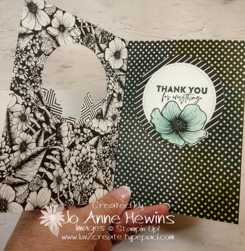 Facebook Live 4.21.2021 Tri Fold Card Open by Jo Anne Hewins