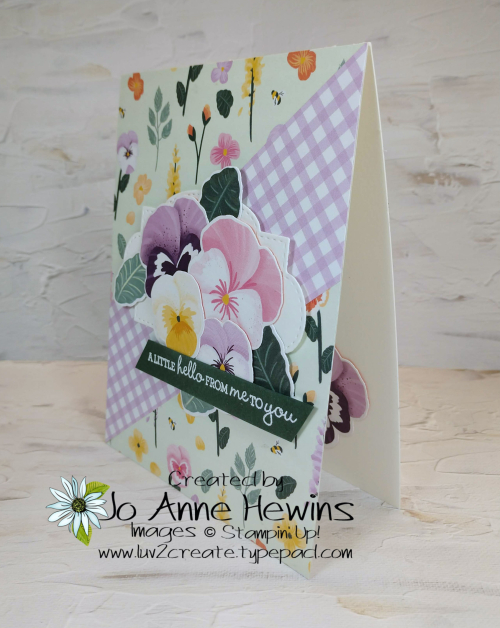 CCMC#661 Pansy Petals Card by Jo Anne Hewins