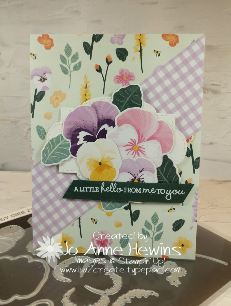 CCMC #661 Pansy Petals Card by Jo Anne Hewins
