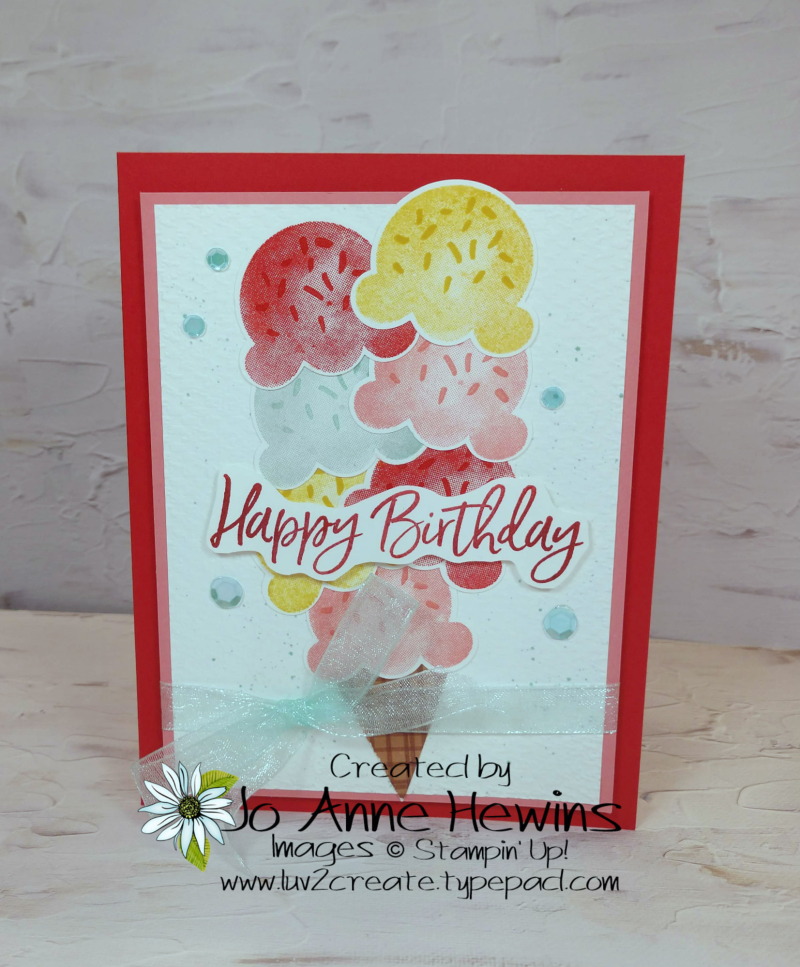 Color Fusers May Sweet Ice Cream Project by Jo Anne Hewins