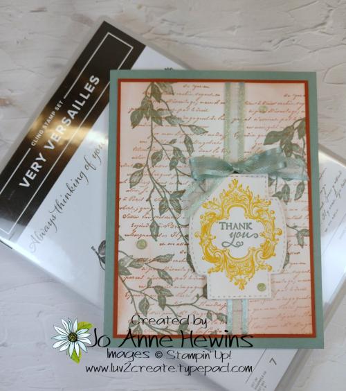 CCMC #662 Very Versailles Card by Jo Anne Hewins