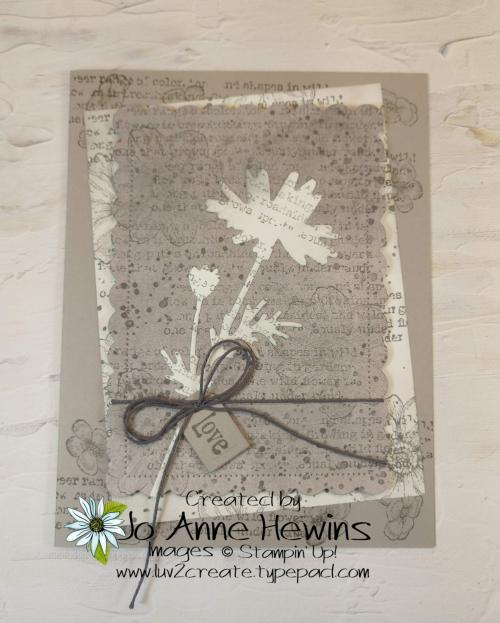 Quiet Meadow in Gray Granite by Jo Anne Hewins
