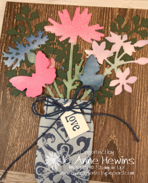 Quiet Meadow Jar Card Close Up by Jo Anne Hewins