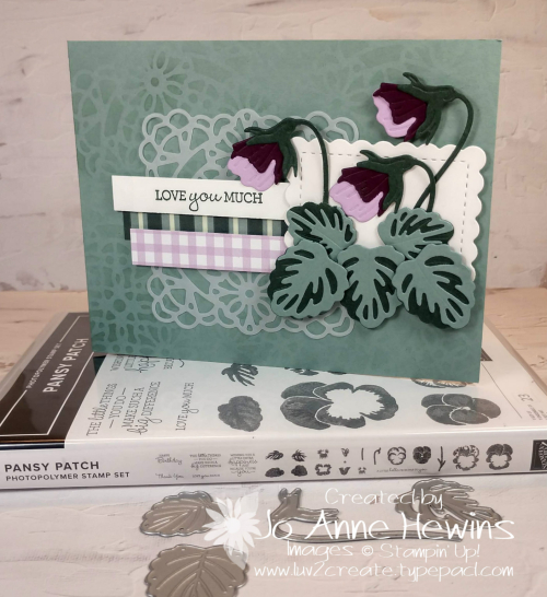 Pansy Patch with stamp set and dies by Jo Anne Hewins