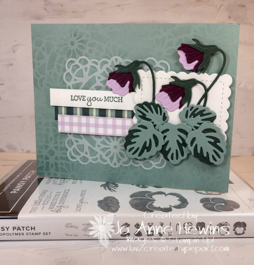 Pansy Patch with stamp set by Jo Anne Hewins