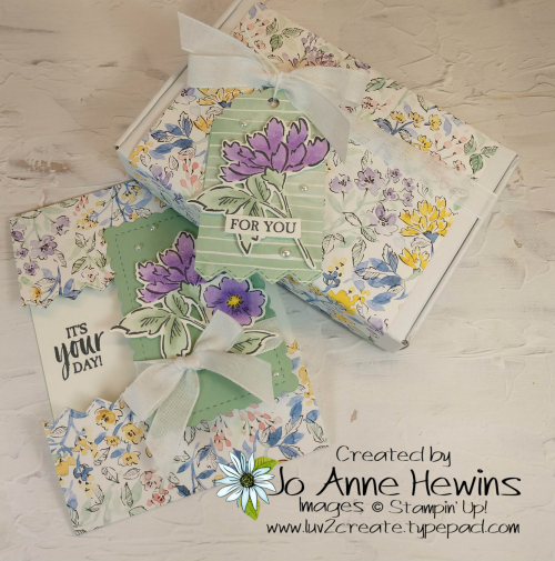 OSAT Hand-Penned Card and Box by Jo Anne Hewins
