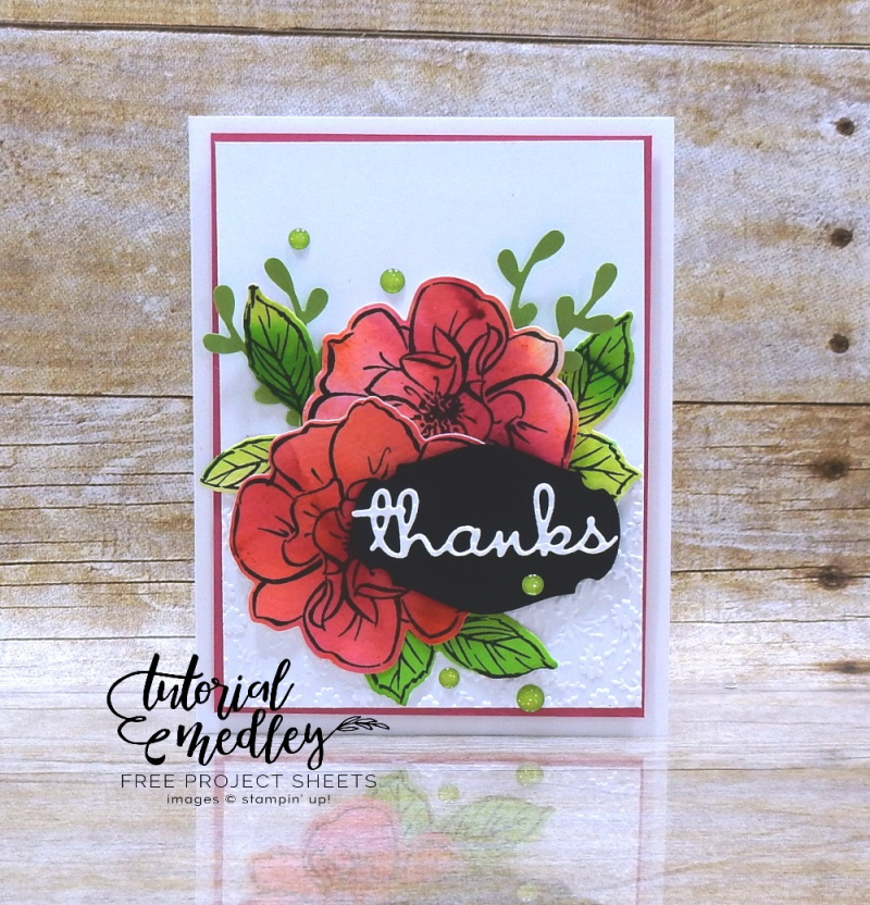 Tutorial Medley for May To a Wild Rose by Wendy Lee