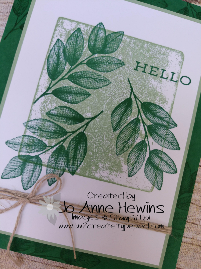 Forever Fern Block Print Close Up By Jo Anne Hewins
