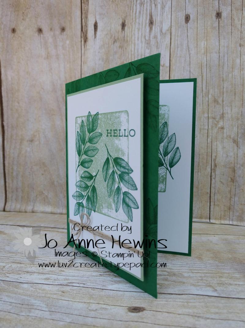 Forever Fern Block Print Card by Jo Anne Hewins