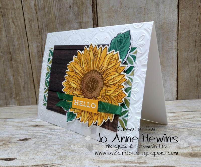 CCMC#614 Celebrate Sunflowers Card by Jo Anne Hewins