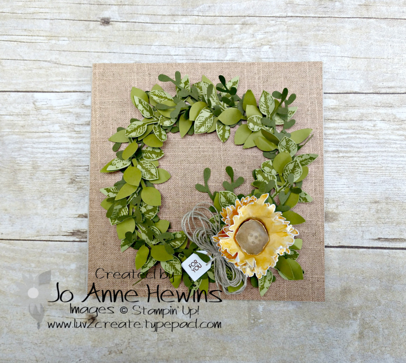 NC Blog Hop Painted Harvest 6 x 6 Frame by Jo Anne Hewins
