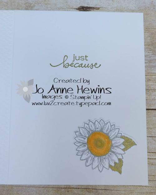 Celebrate Sunflowers NC Swap Inside by Jo Anne Hewins