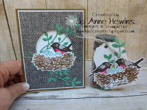 OSAT Birds and Branches Card and Bird Seed Salt Shaker by Jo Anne Hewins