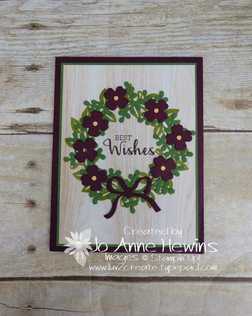 Arrange a Wreath Casual Card by Jo Anne Hewins
