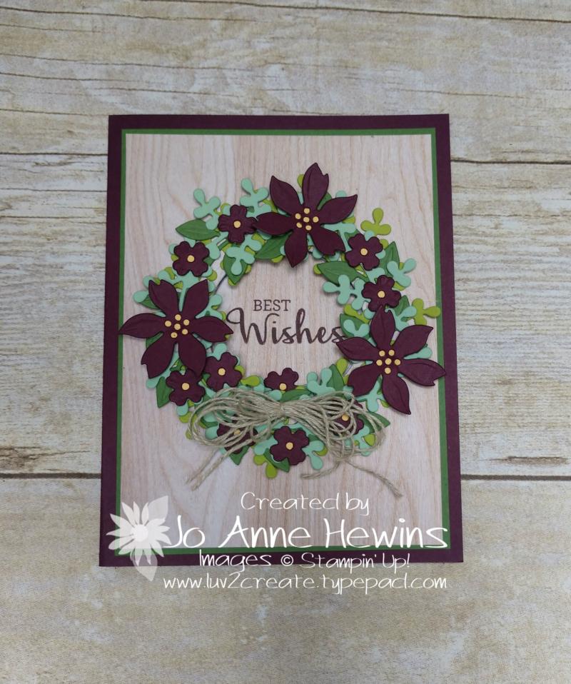 Arrange a Wreath Avid by Jo Anne Hewins