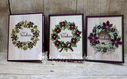 Arrange a Wreath Trio by Jo Anne Hewins