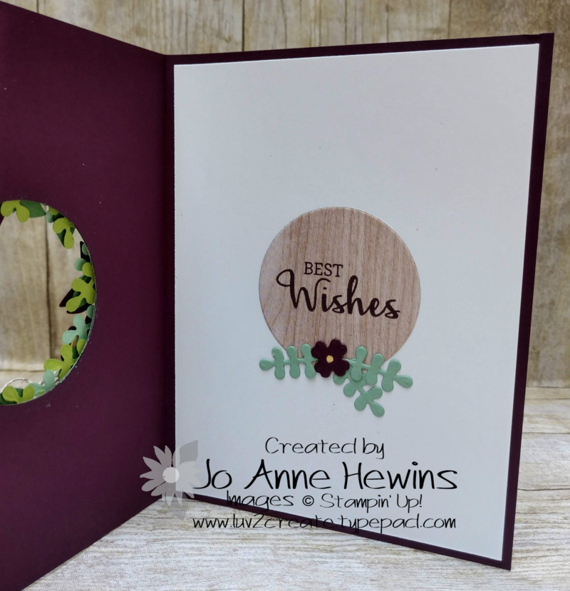 Arrange a Wreath Avid Inside by Jo Anne Hewins