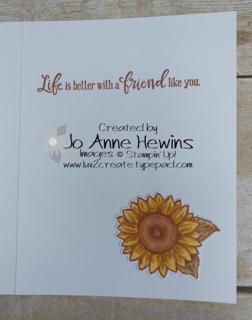 CCMC #619 Celebrate Sunflowers Inside by Jo Anne Hewins