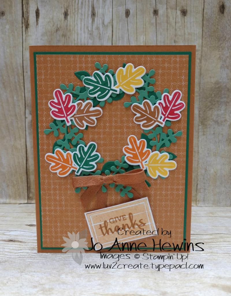 Arrange a Wreath Fall Cards by Jo Anne Hewins