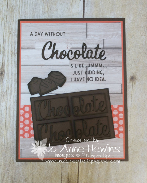 Nothing's Better Than Chocolate Bar Card by Jo Anne Hewins
