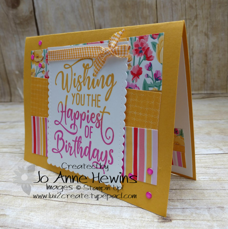 CCMC#622 Happiest of Birthdays Card by Jo Anne Hewins