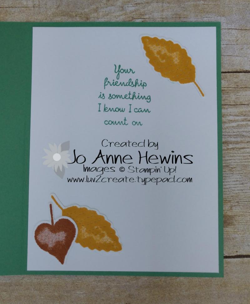 CCMC #624 Love of Leaves Inside by Jo Anne Hewins