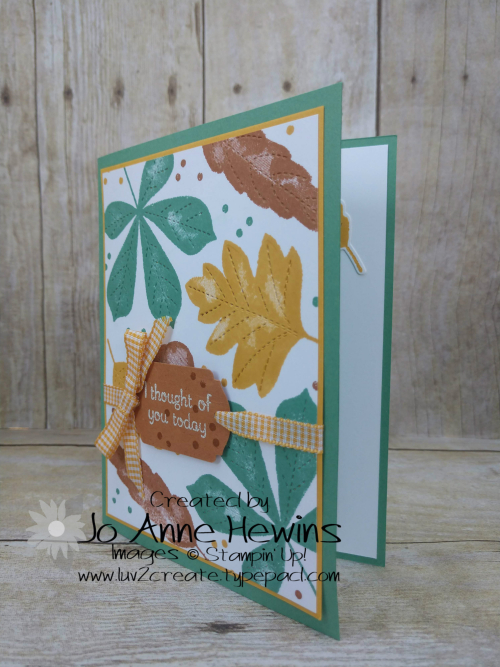 CCMC #624 Love of Leaves Card by Jo Anne Hewins