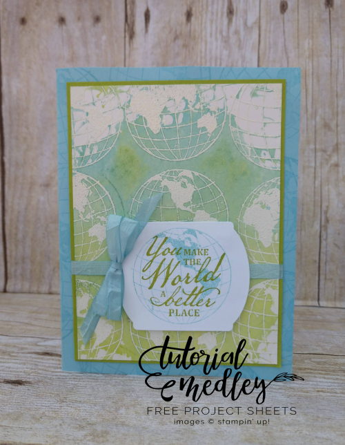Tutorial Medley for August Beautiful World Card by Jo Anne Hewins