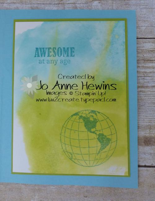 Beautiful World Inside of Card by Jo Anne Hewins