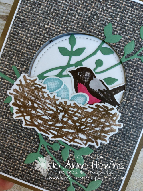 OSAT Birds and Branches Tucked Z Fold Close Up by Jo Anne Hewins