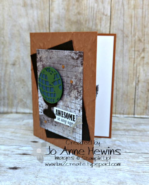Beautiful World June Class Card by Jo Anne Hewins