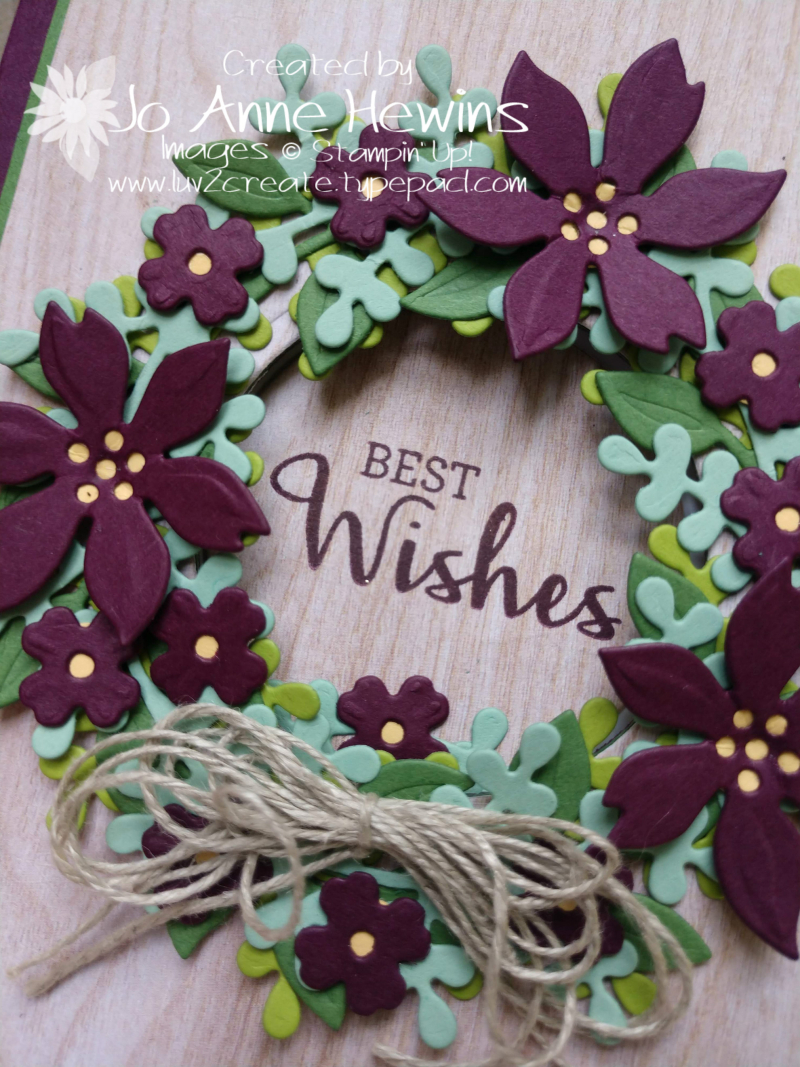 Arrange a Wreath Avid for NC Demo by Jo Anne Hewins