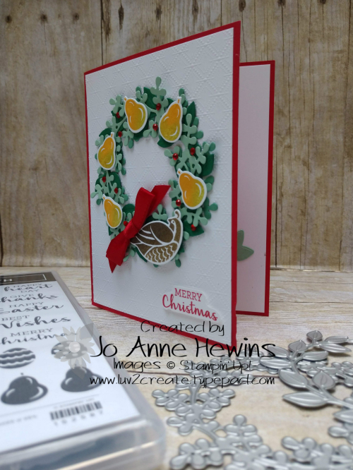 Arrange a Wreath Partridge in a Pear Tree Project by Jo Anne Hewins