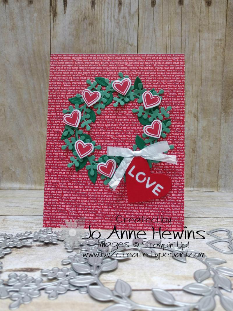 Arrange a Wreath Valentines by Jo Anne Hewins