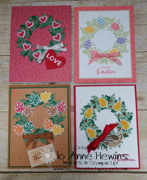 Arrange a Wreath Seasons Cards by Jo Anne Hewins