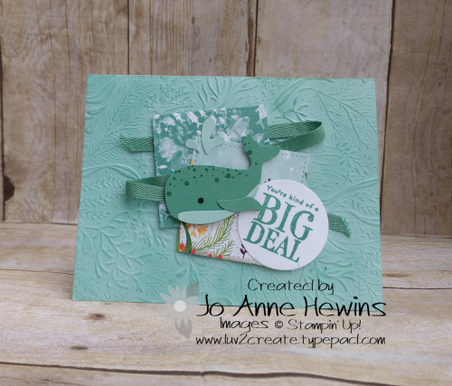CCMC #620 Whale Done Card by Jo Anne Hewins