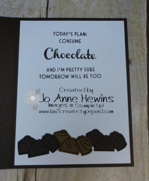 Nothing's Better Than Chocolate Bar Inside of Card by Jo Anne Hewins