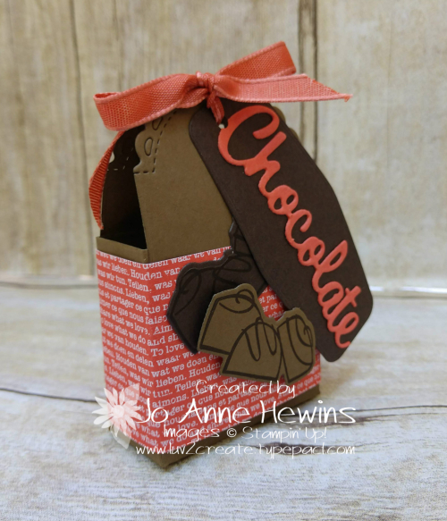 Nothing's Better Than Chocolate Little Treat Box Side View by Jo Anne Hewins