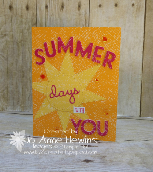 NC Demo Blog Hop for July Summer Card by Jo Anne Hewins