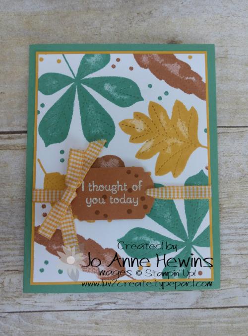 CCMC #624 Love of Leaves by Jo Anne Hewins