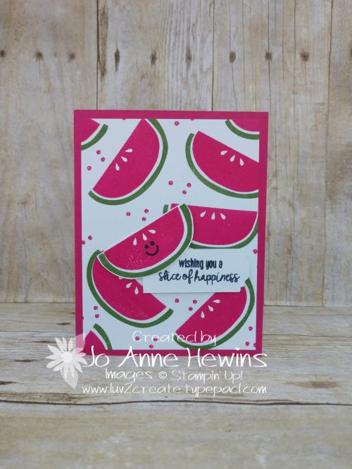 Cute Fruit Card by Jo Anne Hewins