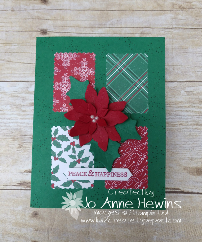 Poinsettia Petals and 'Tis the Season by Jo Anne Hewins