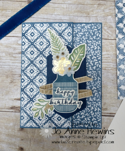 Boho Indigo card 2 by Jo Anne Hewins