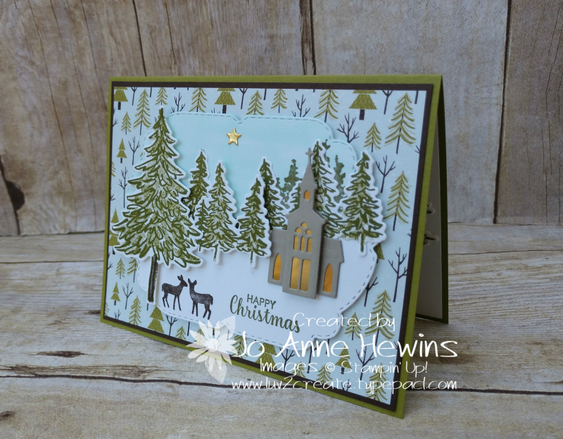 NC Demo Blog Hop for August Scenery In the Pines by Jo Anne Hewins