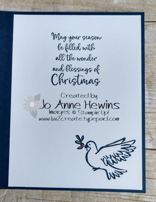 CCMC #628 Dove of Hope Inside by Jo Anne Hewins