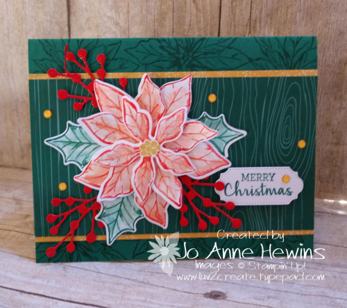 Color Fusers November Poinsettia Petals Card by Jo Anne Hewins