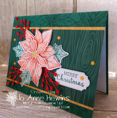 Color Fusers Nov Poinsettia Petals Card by Jo Anne Hewins